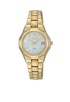 Seiko Ladies 50 Meter Gold Solar Dress Watch
