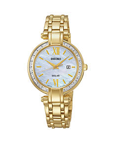 Seiko Women's Diamond Solar Dress Watch