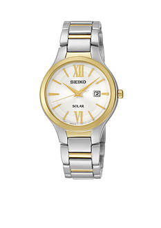 Seiko Two-Tone Solar Calendar Watch