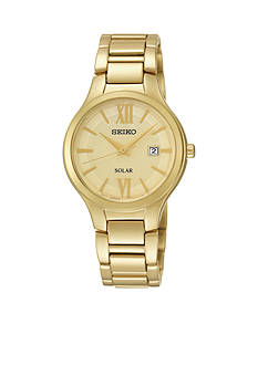 Seiko Gold-Tone Solar Watch