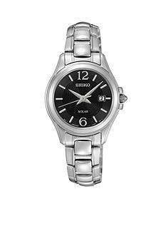 Seiko Women's Silver-Tone Solar Calendar Watch