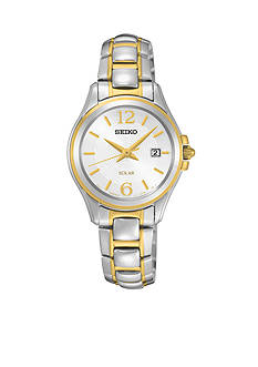 Seiko Women's Two-Tone Solar Calendar Watch