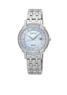 Seiko Women's Solar Silver-Tone Watch