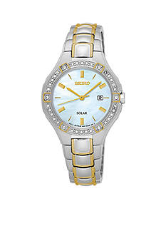 Seiko Ladies Solar Two-Tone with Swarovski® Crystal Accents Watch
