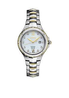 Seiko Ladies Courtura Solar Two-Tone with Diamond Accent Watch