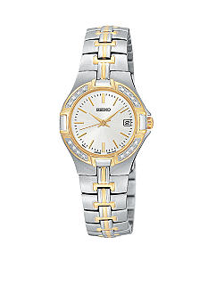 Seiko Ladies Two-Tone Bracelet Watch With 16 Diamonds