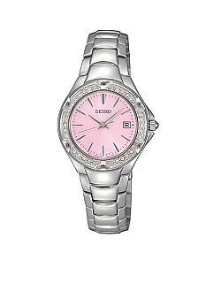 Seiko Ladies 30 Meter Stainless Steel Sporty Dress Watch