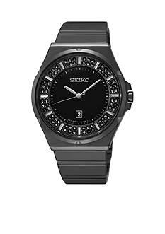 Seiko Women's Stainless Steel Black Dial Quartz Watch