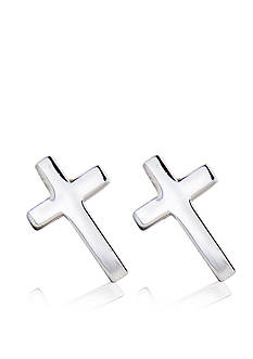 Belk & Co. Children's Sterling Silver Cross Motif Earrings
