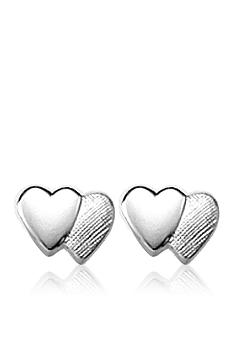 Belk & Co. Children's Sterling Silver Double Heart Earrings