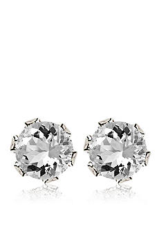 Belk & Co. Children's Sterling Silver 4mm Cubic Zirconia Earrings.