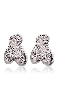 Belk & Co. Sterling Silver Children's Ballet Slipper Earrings