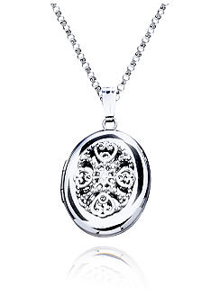 Belk & Co. Sterling Silver Filigree Oval Locket