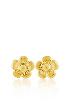 Belk & Co. Children's 14k Yellow Gold Flower Motif Earrings