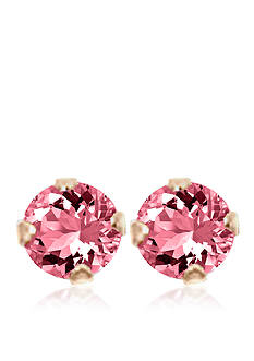 Belk & Co. Children's 14K Pink Cubic Zirconia Earrings