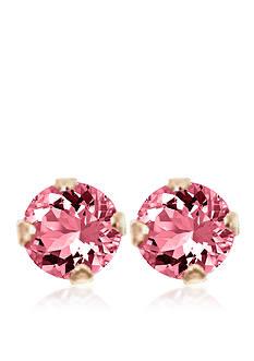 Belk & Co. Children's 14K Pink Cubic Zirconia Earrings