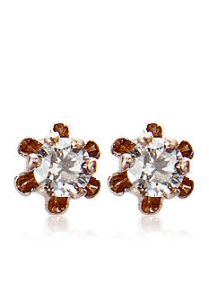 Belk & Co. Children's 14k Gold Diamond Stud Earrings