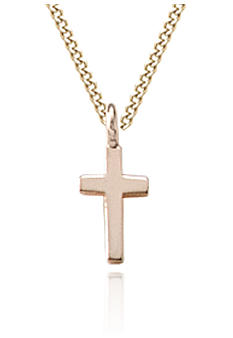 Belk & Co. Baby 14K Polished Cross Pendant