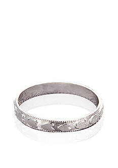 Belk & Co. Baby 14k White Gold Heart Patterned Band Ring