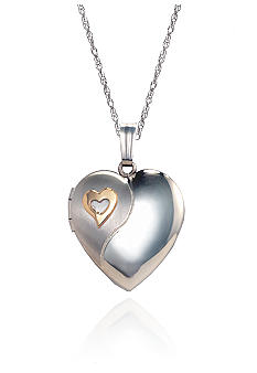 Belk & Co. Sterling Silver with 14K Gold Locket