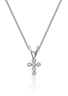 Belk & Co. Children's 14K Cubic Zirconia Cross