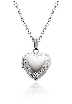 Belk & Co. Children's Sterling Silver Embossed Heart Locket