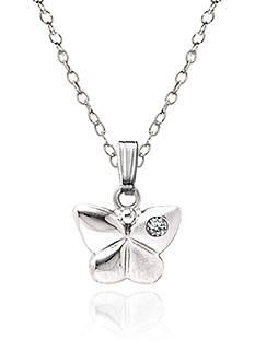 Belk & Co. Children's Sterling Silver Diamond Butterfly Pendant