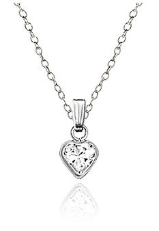 Belk & Co. Children's Sterling Silver Pink Cubic Zirconia Heart Pendant
