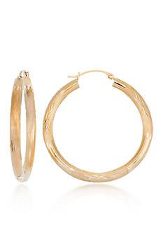 Belk & Co. 10k Yellow Gold Hoop Earrings