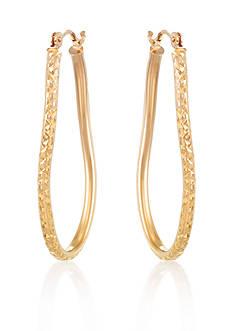Belk & Co. 14k Yellow Gold Twisted Hoop Earrings