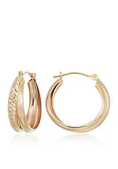 Belk & Co. 10k Yellow Gold Double Hoop Earrings