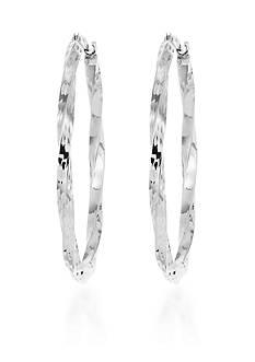 Belk & Co. 10k White Gold Hoop Earrings