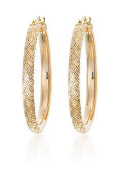 Belk & Co. 10k Yellow Gold Hoop Earrings