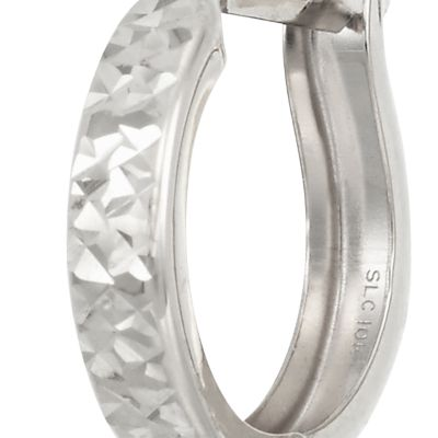 Jewelry & Watches: Belk & Co. Fine Jewelry: White Gold Belk & Co. X-10K YG DIACUT HOOP