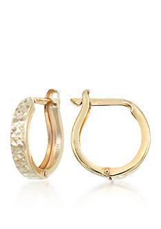 Belk & Co. 10k Gold Hoop Earrings