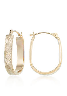 Belk & Co. 10k Gold Hoop Earrings