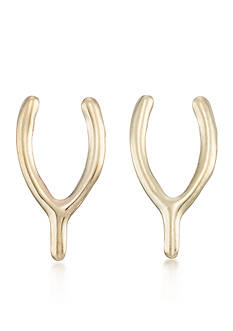 Belk & Co. 10k Yellow Gold Wishbone Stud Earrings