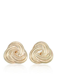 Belk & Co. 10k Yellow Gold Love Knot Stud Earrings