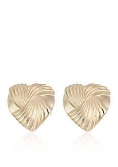 Belk & Co. 10k Yellow Gold Heart Stud Earrings