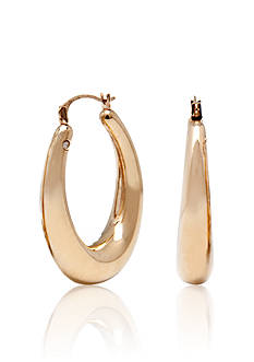 Modern Gold™ 14k Yellow Gold Oval Hoop Earrings