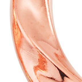Designer Hoop Earrings: Rose Gold Modern Gold™ 14k Gold Hoop Earrings