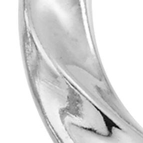 Designer Hoop Earrings: White Gold Modern Gold™ 14k Gold Hoop Earrings