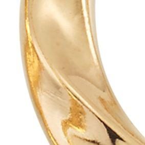 Designer Hoop Earrings: Yellow Gold Modern Gold™ 14k Gold Hoop Earrings