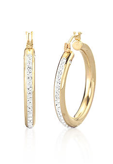 Belk & Co. 14k Crystal Hoop Earring