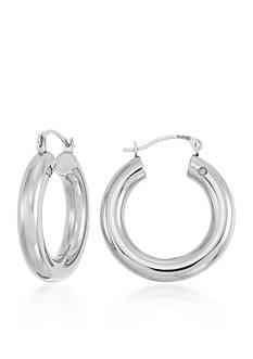 Modern Gold™ 14k White Gold Hoop Earrings