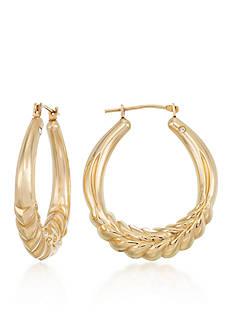 Modern Gold™ 14k Yellow Gold Hoop Earrings