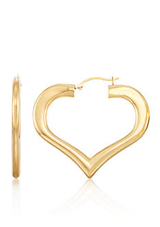 Modern Gold™ 14K Yellow Gold Nano Heart Large Hoop Earrings