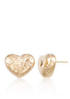 Modern Gold™ 14K Yellow Gold Nano Heart Earrings
