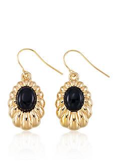 Belk & Co. Onyx Earrings in 14k Yellow Gold