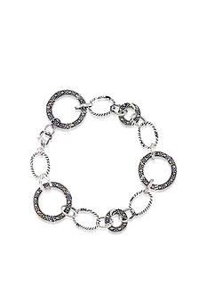Belk & Co. Marcasite Link Bracelet in Sterling Silver